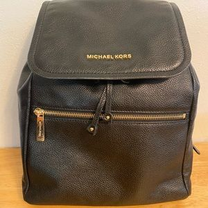 NWOT Michael Kors Black Rachel Leather Backpack